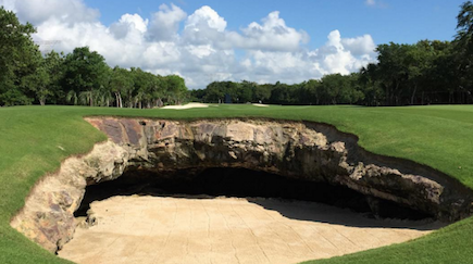 Bunker hell at El Camaleon Course