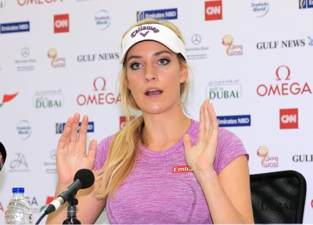 Swingin' Siren Paige Spiranac makes Dubai Debut