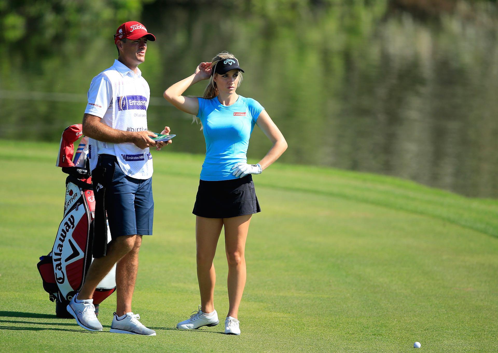 Swingin' Siren Paige Spiranac makes Dubai Debut