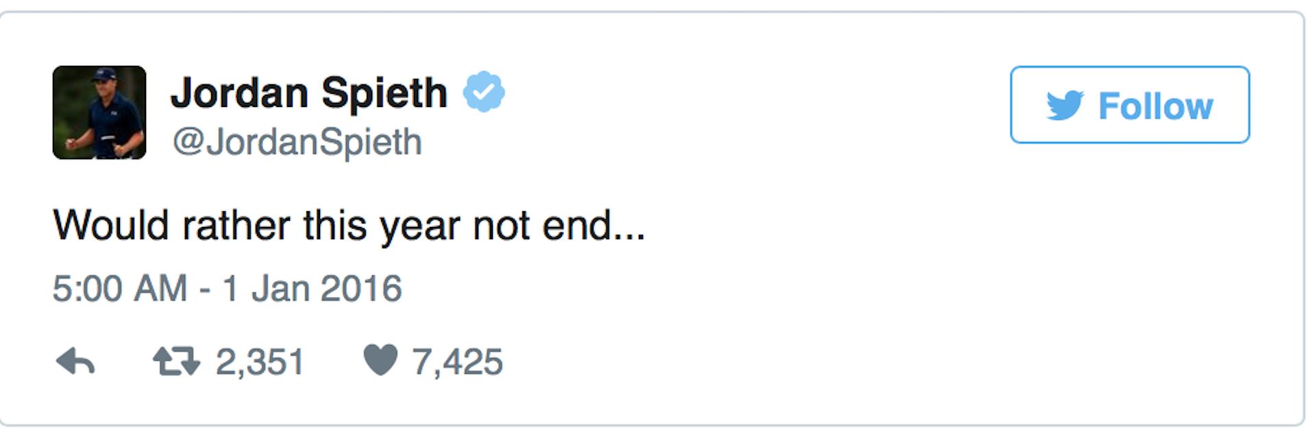 Jordan's end of Year Tweets