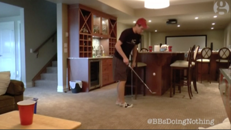 Double Beer Pong Golf Shot