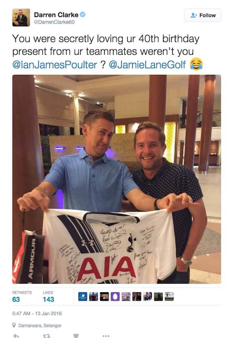 Poulter's late birthday surprise