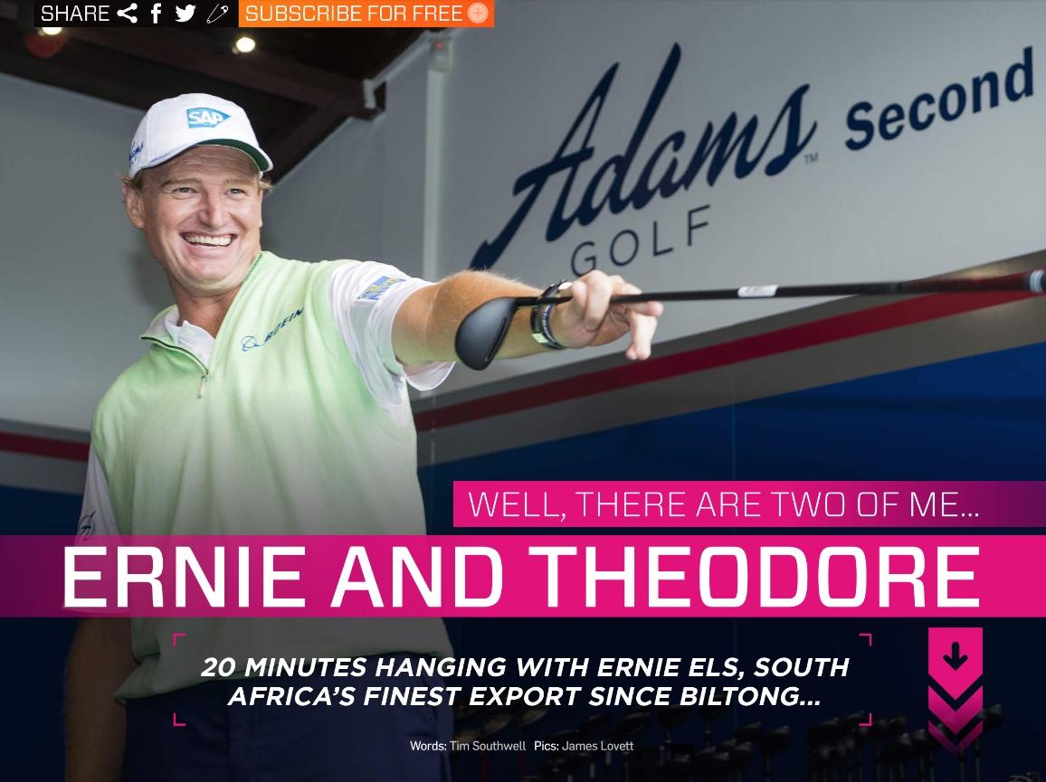 Ernie Els: My alter ego mischief maker...