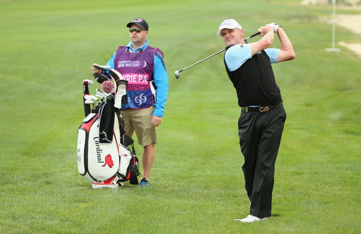 Paul Lawrie leads in Qatar