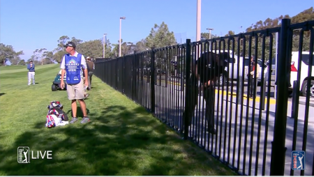 Phil Mickelson's incredible fence shot