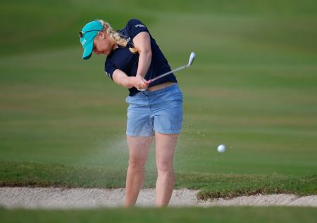 Charley Hull retains share of lead at Pure Silk
