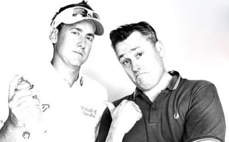 Ian Poulter with Tim