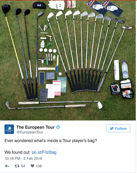 What's in a Tour Pro's golf bag?