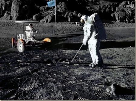 Golf on the moon