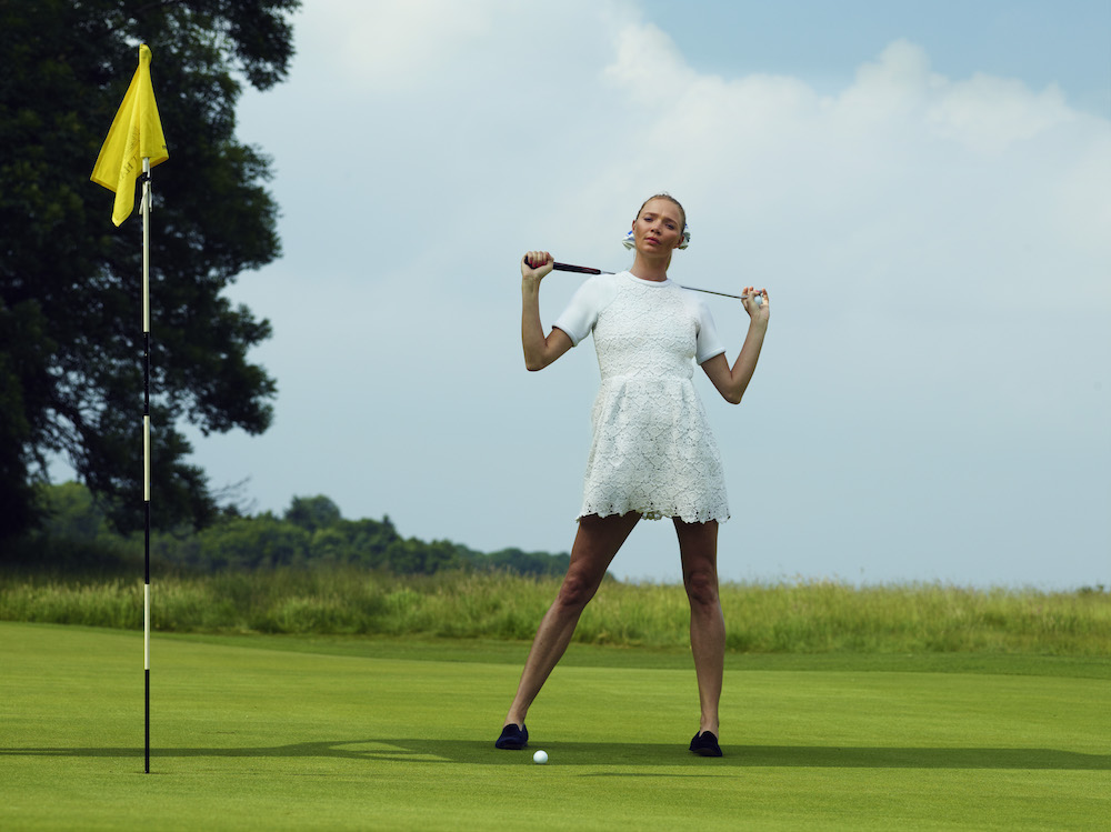 On the golf road with super model golf nut Jodie Kidd