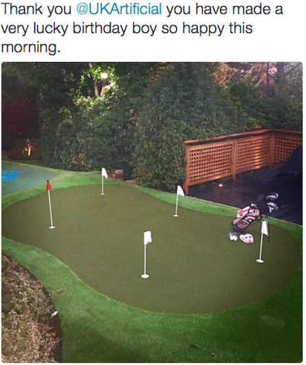 Footballers building golf course in their gardens