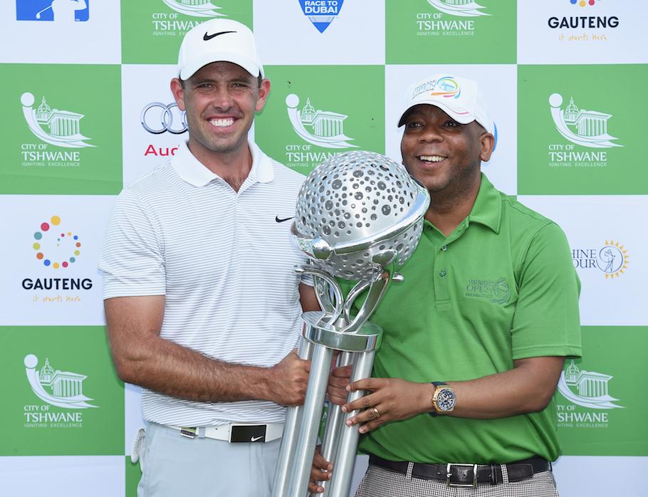 Charl Schwartzel wins the Tshwane Open