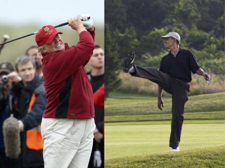 Donald Trump taunts Obama over golf match