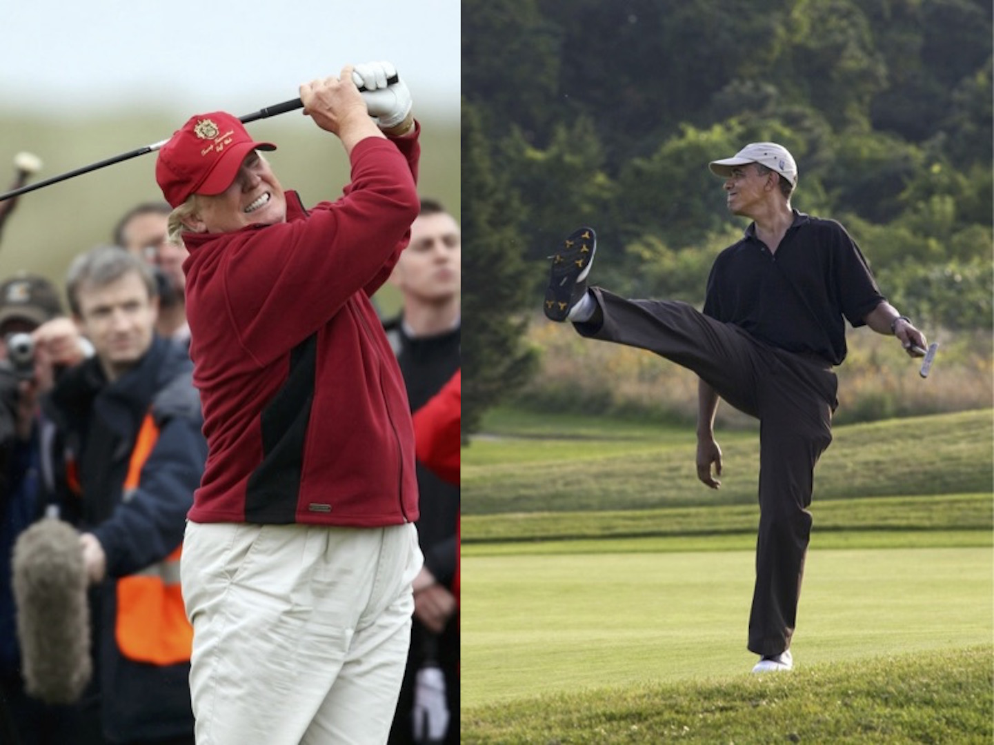 Trump calls out Obama for golf match. Again!