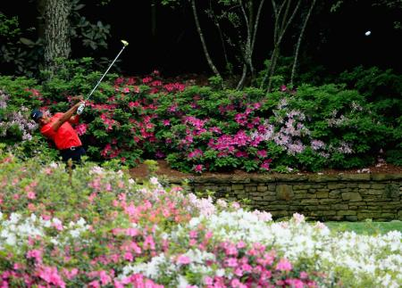 All change at the 13th at Augusta