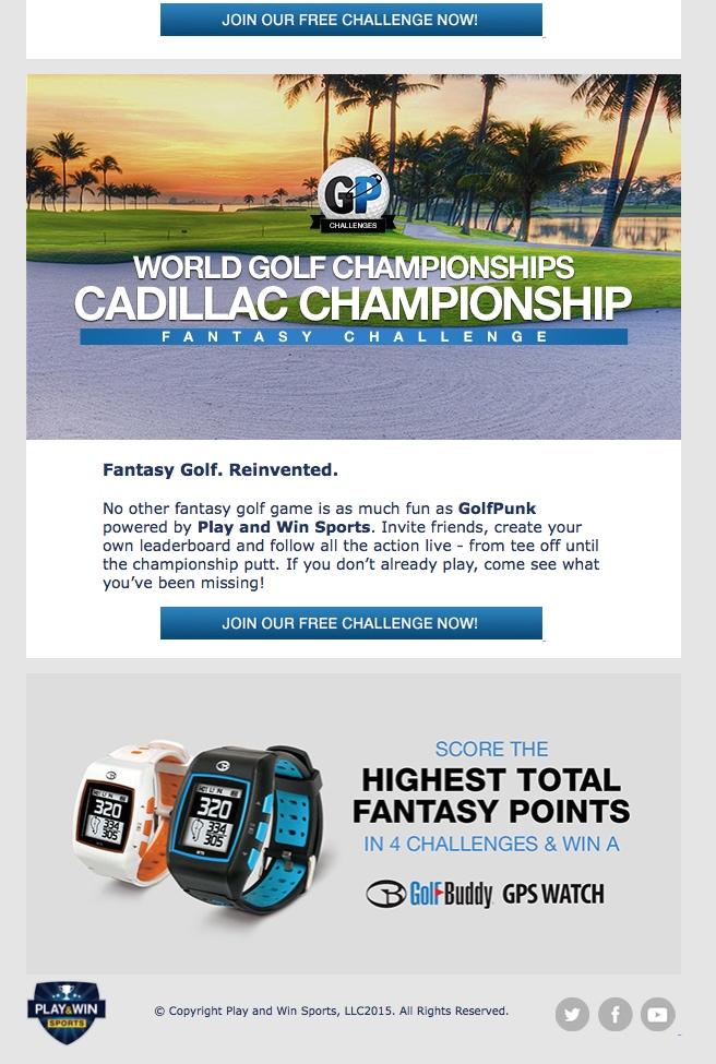 WGC Cadillac Championship Fantasy Challenge