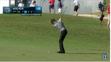 And here's Jimmy Walker's eagle on the 17th