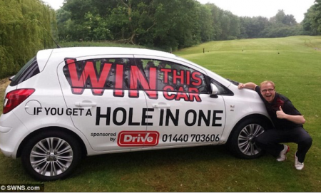 Hole-in-one golfer gets taken for a ride