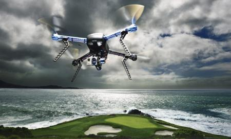 Golf Ball Delivery Drone Launches