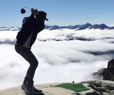 Lewis Hamilton Swings At The Top Of The World