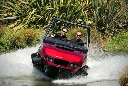 Is it a golf cart or is it a speedboat?