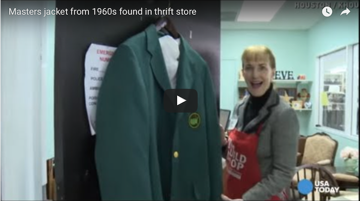 Green Jacket found in charity shop