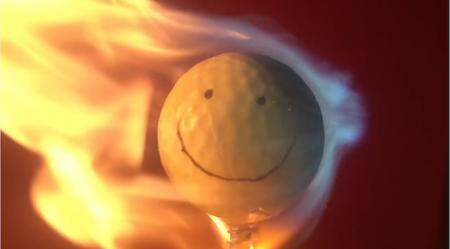 Golf ball versus welding torch