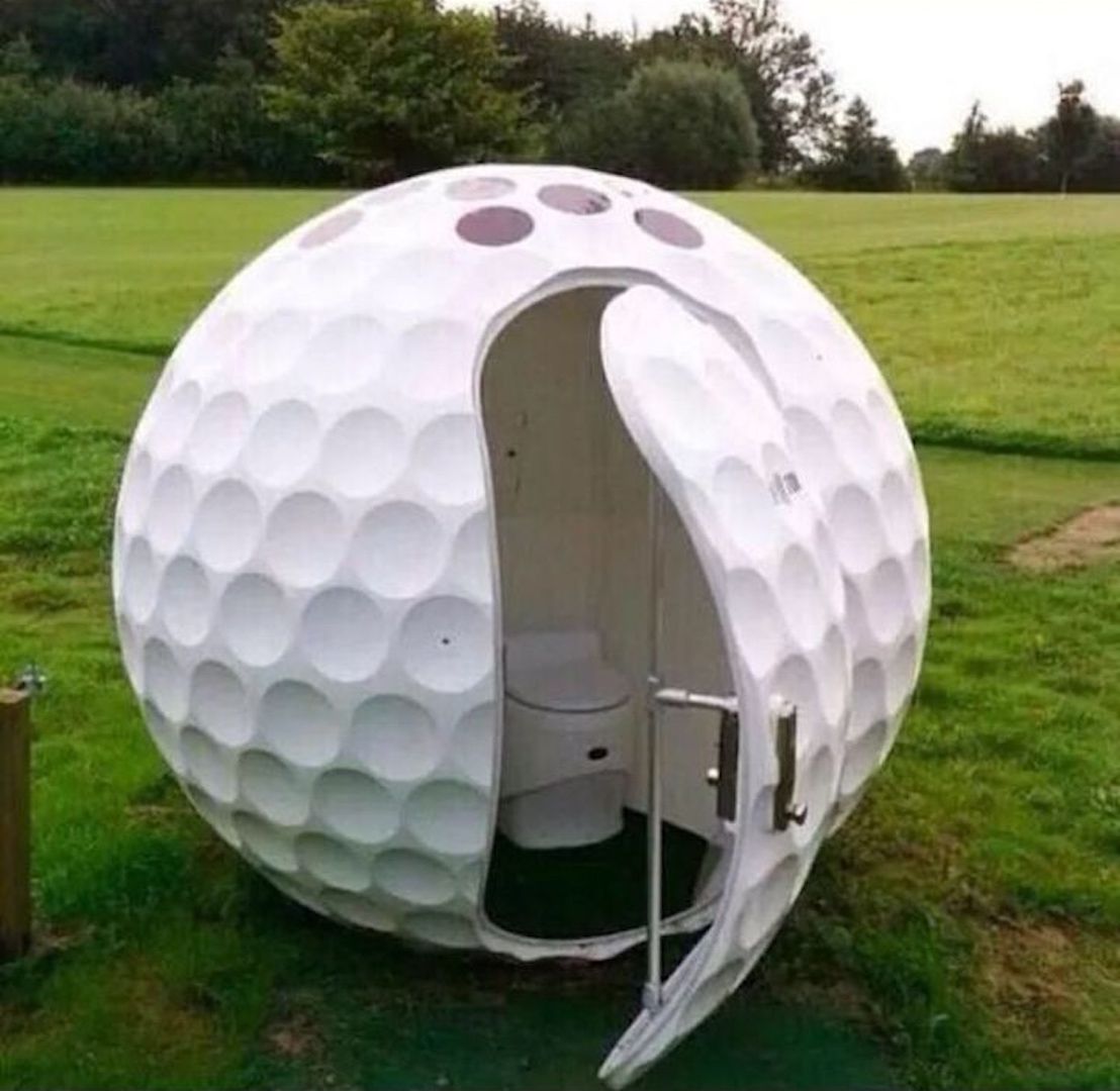 How to get a toilet built on a golf course in the green belt