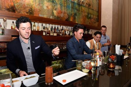 Rickie Fowler Downs a Beer