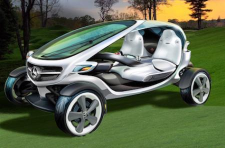Mercedes Benz golf buggy
