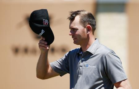 Brandon Steele holes a long one at the Valero Texan Open