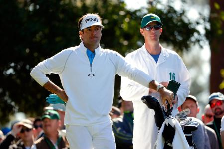 Role reversal with Bubba Watson and his caddy Ted Scott