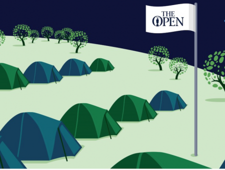 Free camping at The Open if you're under 25