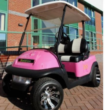 Pink golf buggy fund-raiser