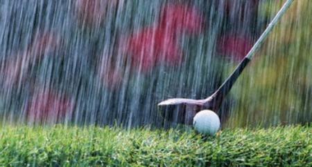 Weather puts a dampener on UK golf rounds played