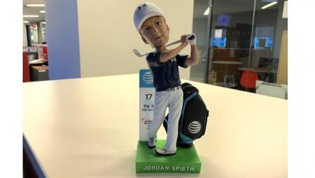Jordan Spieth's Bobble head is better than you
