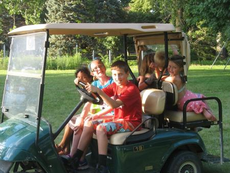 Don't let your kids drive the cart