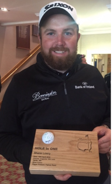 Shane Lowry auctions off his Masters Ace ball