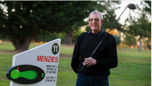 Ace for one-armed golfer