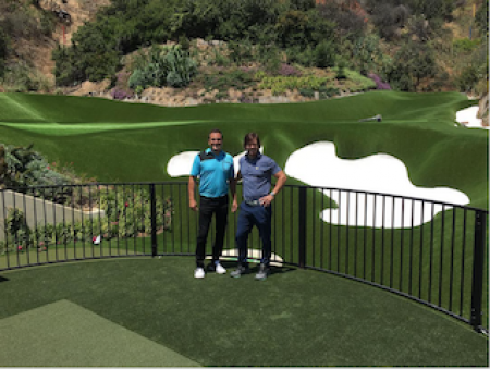 Mark Wahlberg's back yard golf set up