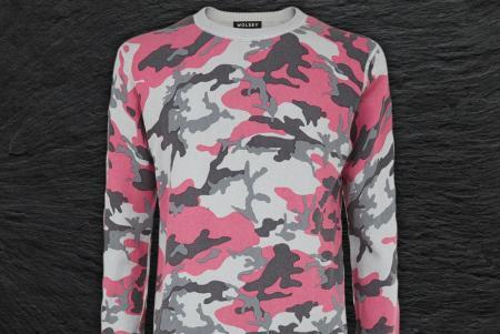 Wolsey Printed Camo Crew sweater