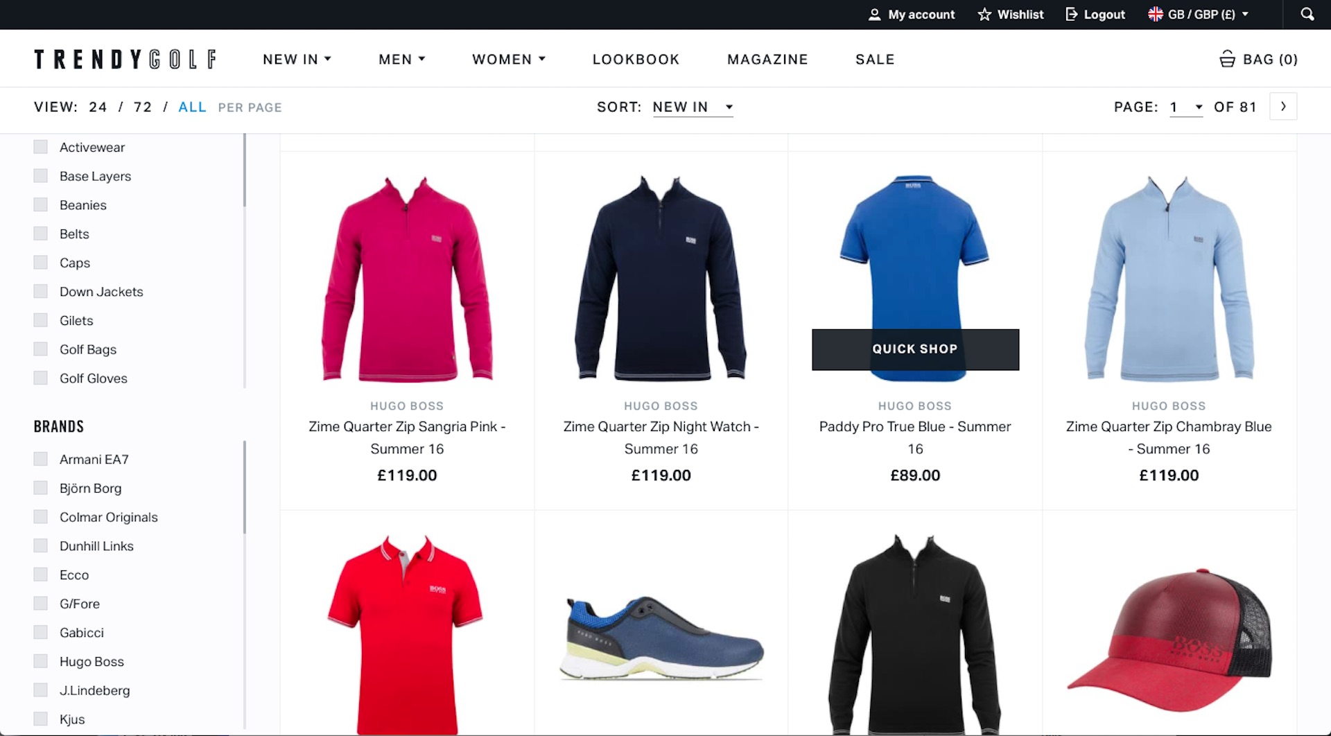 TrendyGolf Launch Shiny New Website