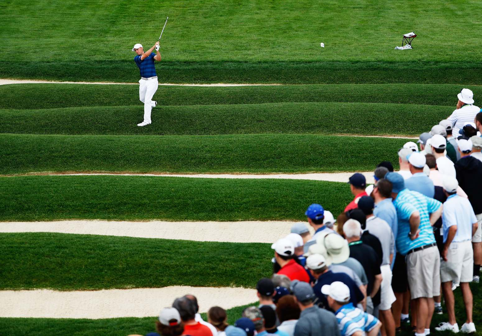 Who he? Unheralded American leads weather-hit US Open