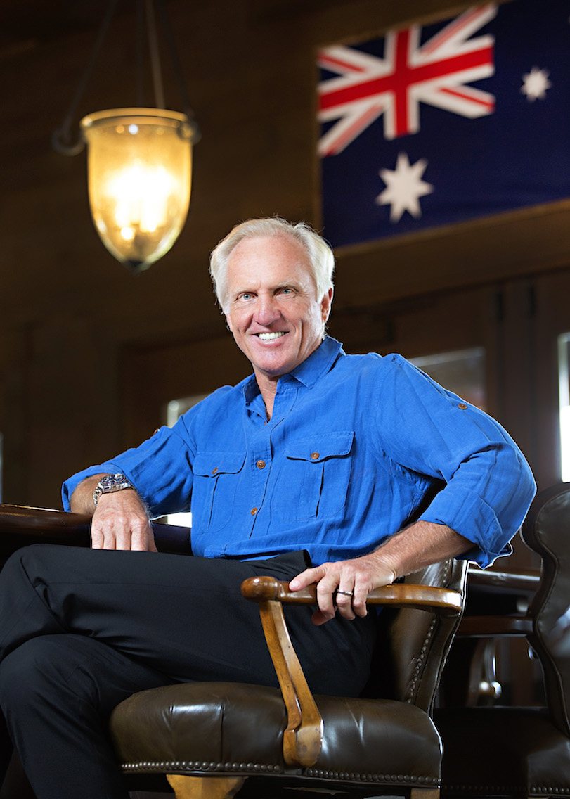 Greg Norman takes the GP Biscuit Tin Challenge