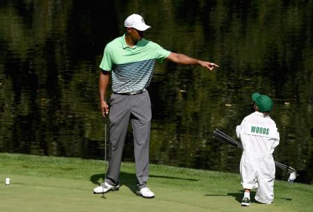Tiger's son plays first golf competition