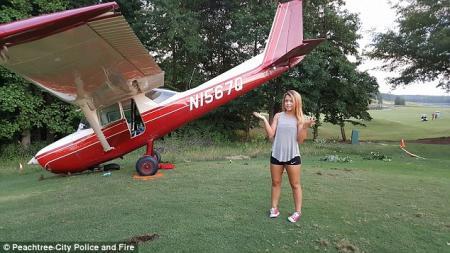 Teenager crash lands plane on golf course
