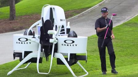 Bubba Watson's Flying Golf Cart Jetpack