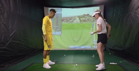 Neymar tries golf. Results random...