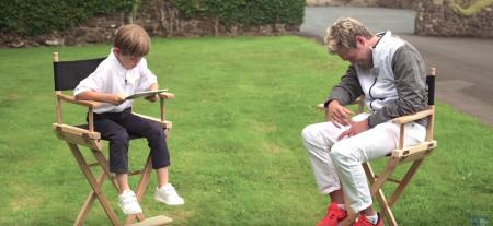Nial Horan gets turned over by Little TV presenter