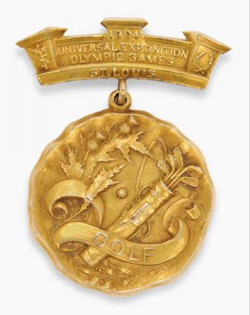 Christie's to auction Olympic Game golf medal